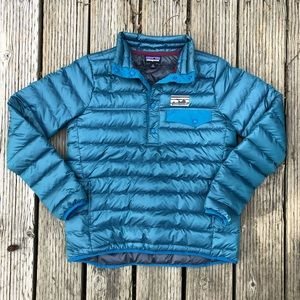 Patagonia down snap T pullover retro logo medium